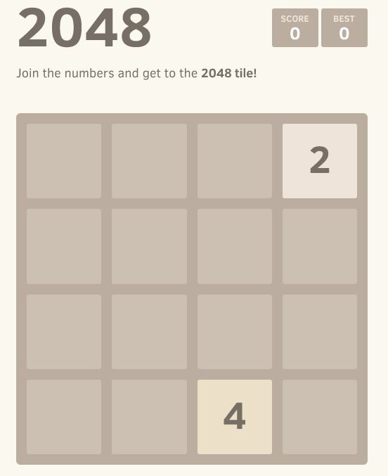 2048 Game: Strategy and Thoughts